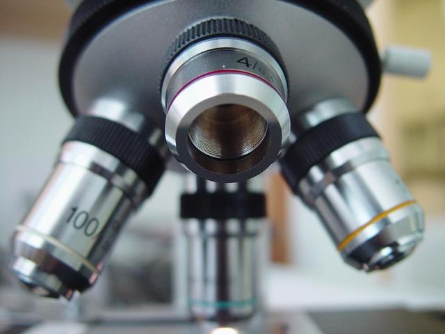 顕微鏡のレンズ部分