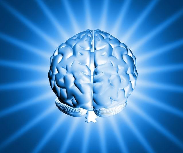 脳が輝いているイラスト