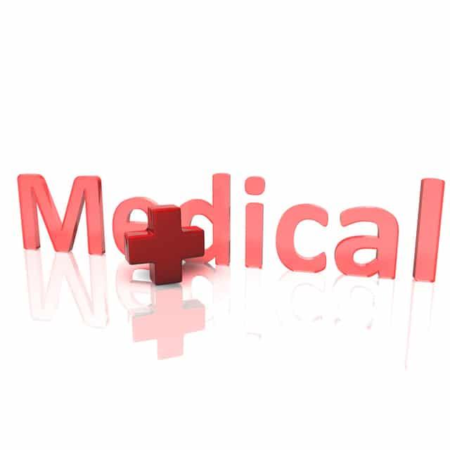 立体で表現されたMedicalの文字