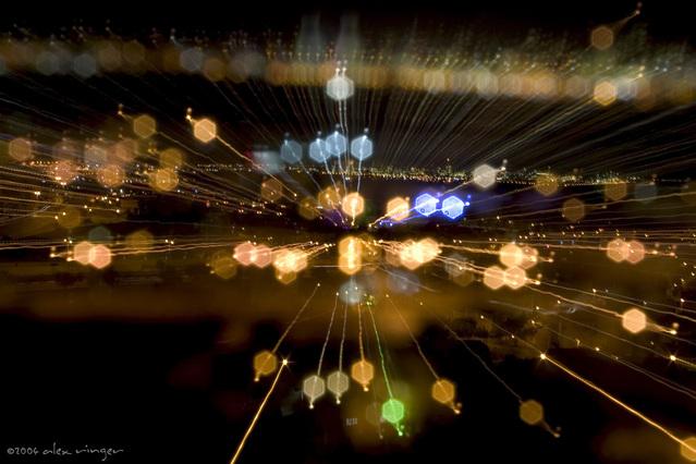 スピード感のある夜景