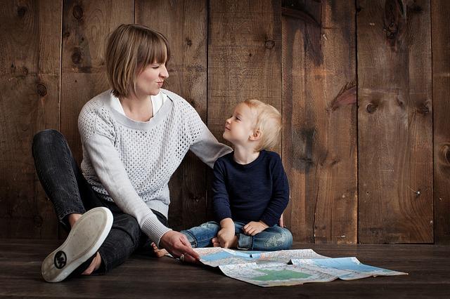 愛情いっぱいの母と息子