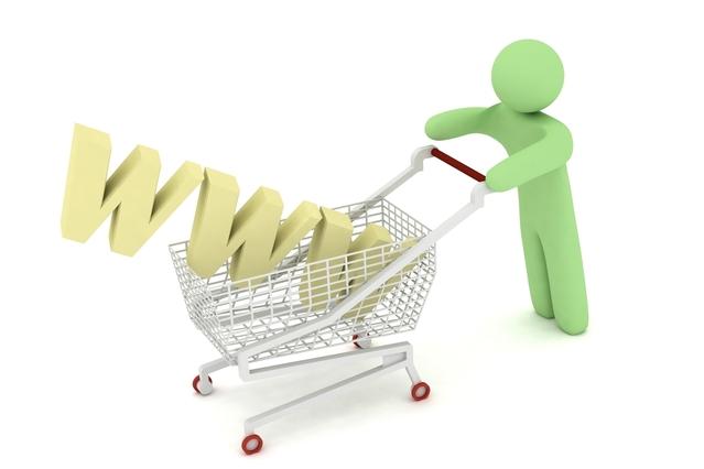 ショッピングカートにWWWを入れて押すピクトグラム