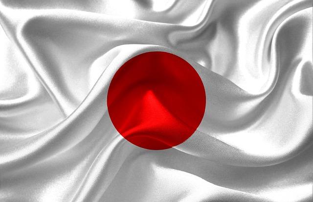 シワの寄った日本の国旗