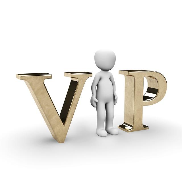 VIPの真ん中のIの字を表すピクトグラム