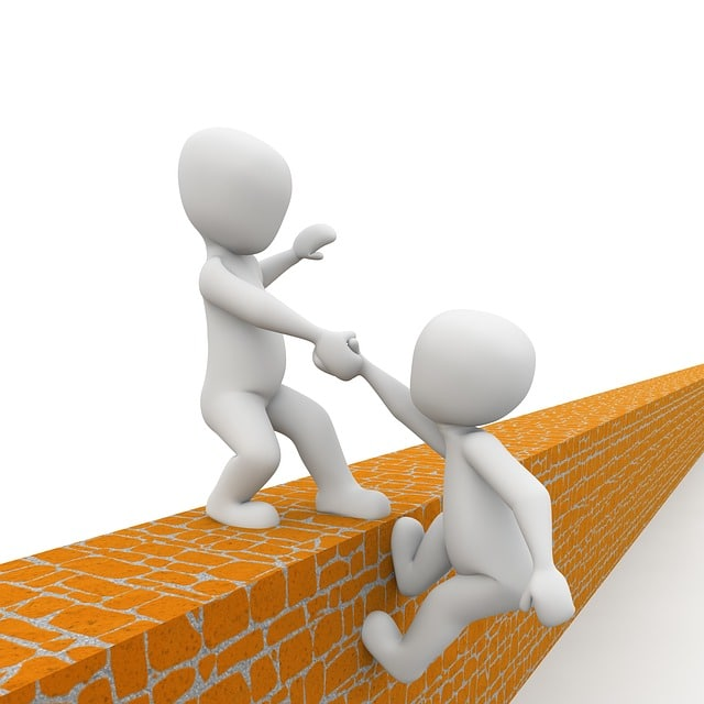 壁に登るのを助けるピクトグラム
