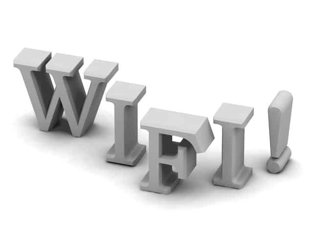 WIFI!の文字のピクトグラム