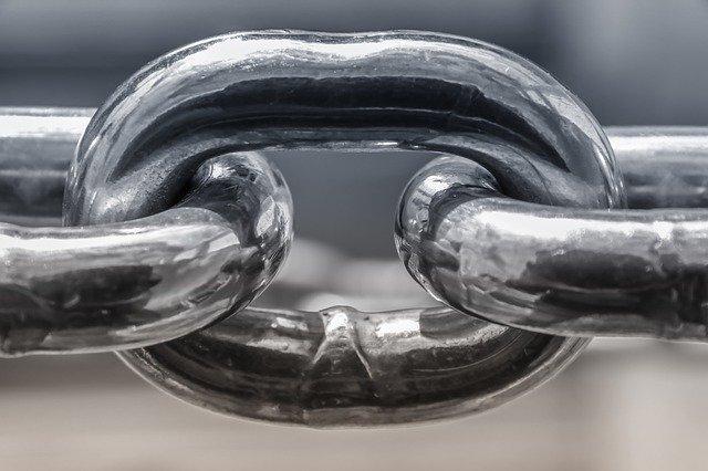 鎖のアップ