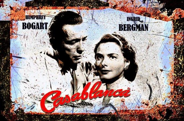 古くなったCasablancaのポスター