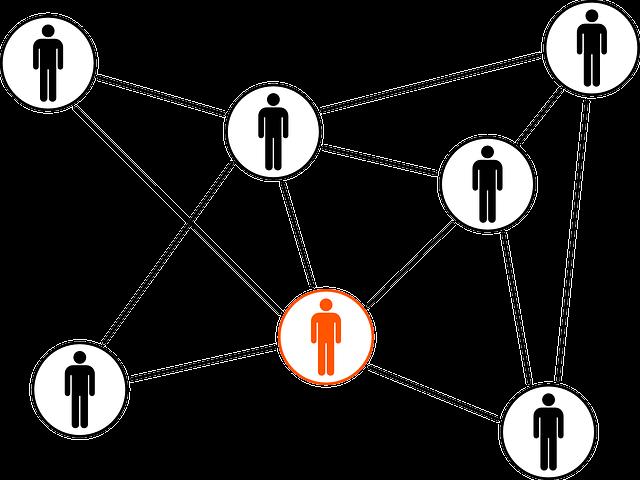 人同士の繋がりを示すイラスト
