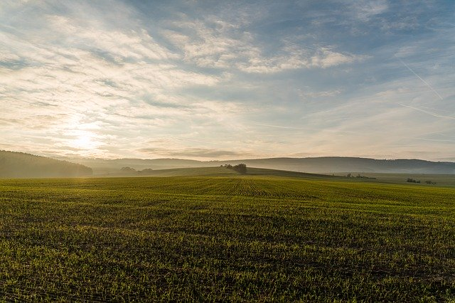 何もない草原と空