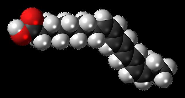不飽和脂肪酸の配列イラスト